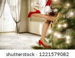 slim young woman legs in... | Shutterstock . vector #1221579082
