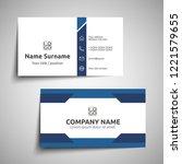 modern simple business card set ... | Shutterstock .eps vector #1221579655