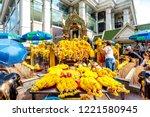 bangkok  thailand   october 14  ... | Shutterstock . vector #1221580945