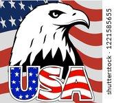 bald eagle symbol of north...   Shutterstock .eps vector #1221585655