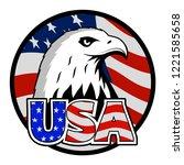 bald eagle symbol of north...   Shutterstock .eps vector #1221585658
