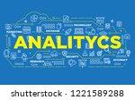 illustration of creative banner ... | Shutterstock .eps vector #1221589288
