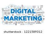 illustration of creative banner ... | Shutterstock .eps vector #1221589312