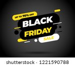 black friday sale inscription... | Shutterstock .eps vector #1221590788