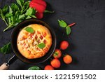 pizza in the pan | Shutterstock . vector #1221591502