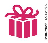 gift box vector flat icon on... | Shutterstock .eps vector #1221598972
