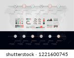 timeline vector infographic.... | Shutterstock .eps vector #1221600745