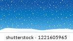 hello winter blue winter... | Shutterstock .eps vector #1221605965