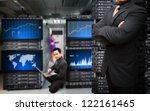 programmers team and graph... | Shutterstock . vector #122161465