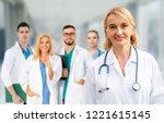 healthcare people group.... | Shutterstock . vector #1221615145