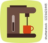 coffee maker electronic devices ... | Shutterstock .eps vector #1221621445