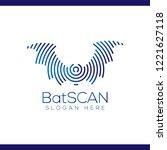 bat scan technology logo vector ... | Shutterstock .eps vector #1221627118