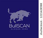 bull scan technology logo...   Shutterstock .eps vector #1221628588