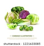 realistic composition with... | Shutterstock .eps vector #1221633085