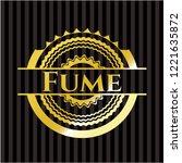 fume golden emblem   Shutterstock .eps vector #1221635872