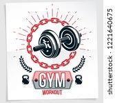 gym advertising vector leaflet... | Shutterstock .eps vector #1221640675