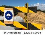 wear a hard hat on the... | Shutterstock . vector #1221641995