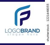 f p initial letter logo vector...   Shutterstock .eps vector #1221648055