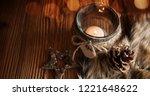 christmas still life in country ... | Shutterstock . vector #1221648622