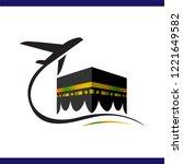 kaaba hajj tour and travel...   Shutterstock .eps vector #1221649582