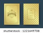 christmas greeting card design... | Shutterstock .eps vector #1221649708