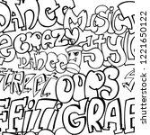 abstract seamless graffiti... | Shutterstock .eps vector #1221650122