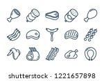 meat and sausage related line... | Shutterstock .eps vector #1221657898