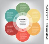 concept of colorful circular... | Shutterstock .eps vector #122165842
