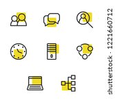 business icons set with pc ... | Shutterstock .eps vector #1221660712