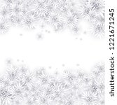 christmas background with white ... | Shutterstock .eps vector #1221671245