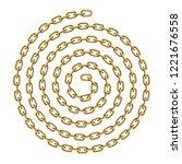 spiral shaped golden chain... | Shutterstock .eps vector #1221676558
