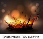 water splash effect. high...   Shutterstock .eps vector #1221685945