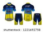 cycling jerseys mockup t shirt... | Shutterstock .eps vector #1221692758