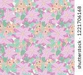 seamless pattern in poinsettia.   Shutterstock .eps vector #1221706168