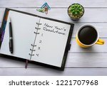 new year resolutions  goals or... | Shutterstock . vector #1221707968