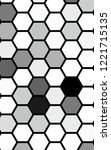black honeycomb with a gradient ... | Shutterstock . vector #1221715135