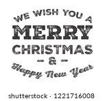 merry christmas and happy new... | Shutterstock .eps vector #1221716008