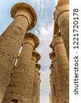 the temple in karnak | Shutterstock . vector #1221720178