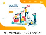 alternative progress  building... | Shutterstock .eps vector #1221720352