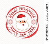 christmas print with smiling... | Shutterstock .eps vector #1221720895