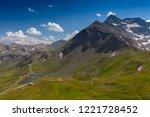 high alpine road fuscher torl... | Shutterstock . vector #1221728452