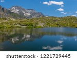 view at moesola alpine lake... | Shutterstock . vector #1221729445