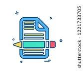 document icon design vector | Shutterstock .eps vector #1221733705