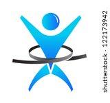 weight loss man | Shutterstock .eps vector #122173942