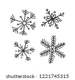 hand drawn set of vintage... | Shutterstock .eps vector #1221745315
