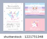 Pastel Birthday Invitation Wit...