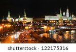 Night View Of Moscow Kremlin I...