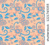 seamless pattern with small... | Shutterstock .eps vector #1221765355