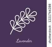 lavender blossom icon.... | Shutterstock .eps vector #1221766288
