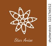 dried star anise icon.... | Shutterstock .eps vector #1221766312